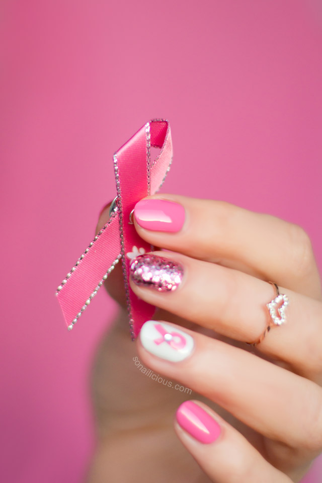 pink-ribbon-nail-art